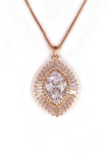 Her Jewellery gold Agapios Pendant (Rose Gold) HE210AC0FM1OSG_1