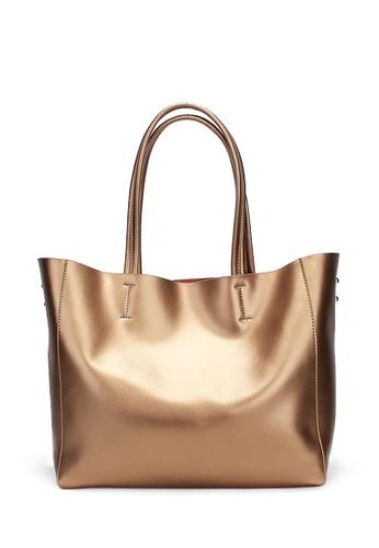 Twenty Eight Shoes gold VANSA Metallic Cow Leather Tote Bag VBW-Tb8689 C0C07ACC91BA0EGS_1