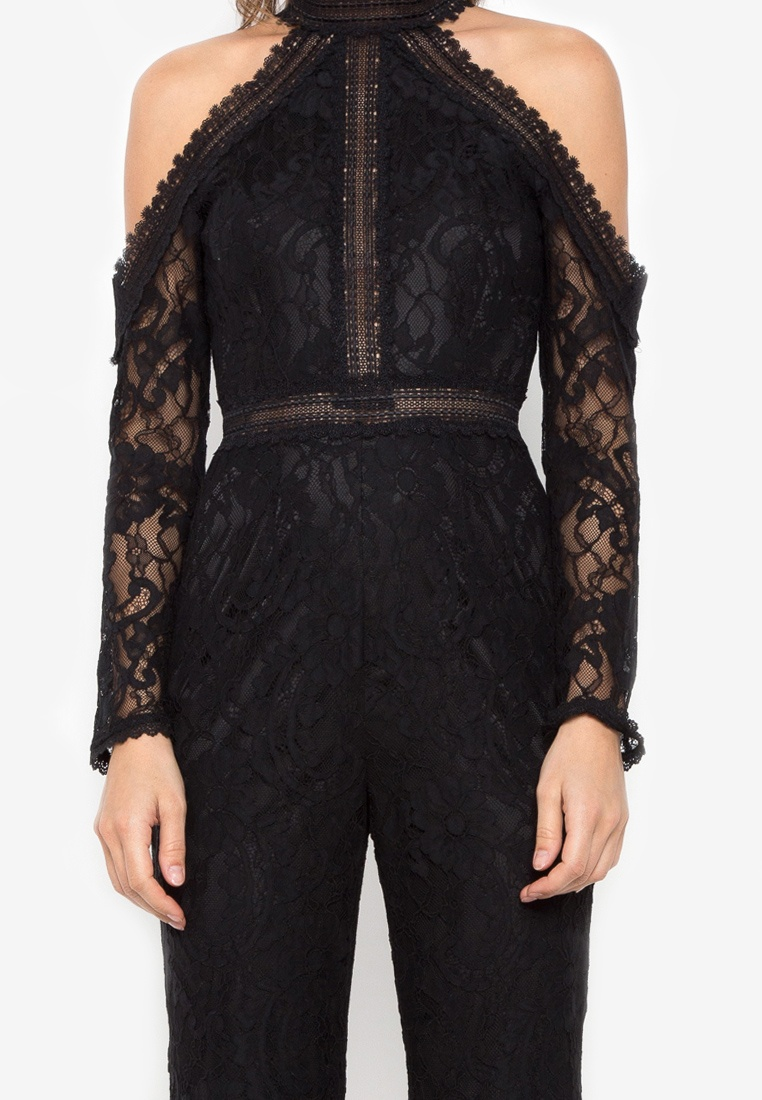 Lace Jumpsuit NOBASIC Cold black Shoulder ZCngxq