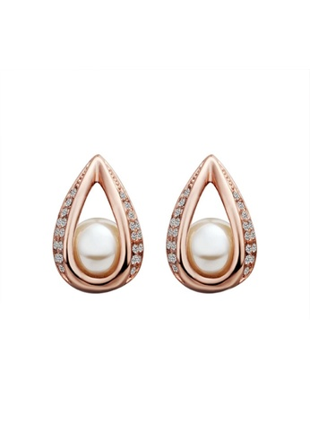 Treasure by B & D gold Treasure by B&D E425 European Style Czech Drilling Waterdrop Shaped Stud Earrings TR022AC75XPKPH_1
