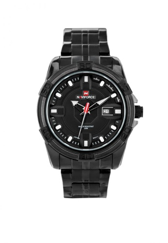 Fashion by Latest Gadget black Naviforce 9079 Dial Analog Watch for Men FA499AC0K7NWPH_1