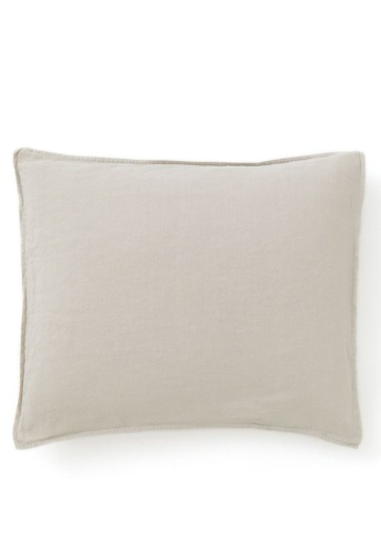 H&M beige Washed linen pillowcase 94FA6ACDFE7B06GS_1