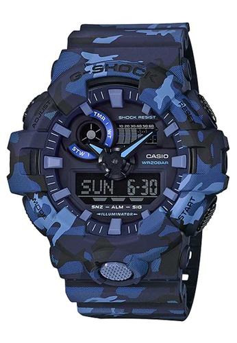 CASIO multi Casio G-Shock Blue Camo Resin Watch B6846AC12A00FBGS_1