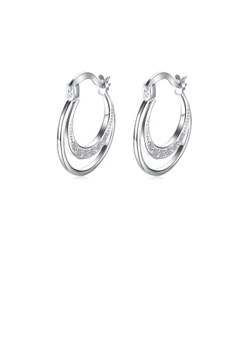 Glamorousky white Fashion Simple Geometric Earrings with Austrian Element Crystal A6AD8AC9BCA982GS_1