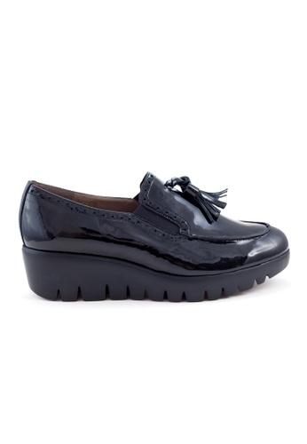 Shu Talk 藍色 舒適有型流蘇漆皮樂福牛皮皮鞋 04320SH9B4F683GS_1