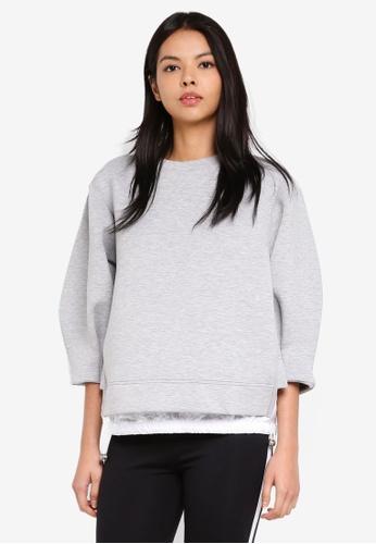 ESPRIT grey 3/4 Sleeve Sweatshirt 51D3CAAEE505BEGS_1