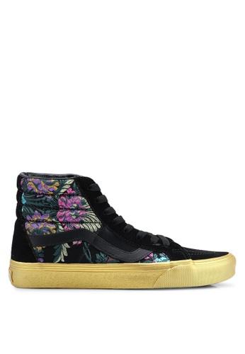 VANS black Sk8-Hi Reissue Festive Satin Sneakers 83961SH386BC5FGS_1