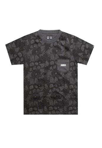 SHARKS grey Floral Pocket Tshirt 9622AKA21D1274GS_1