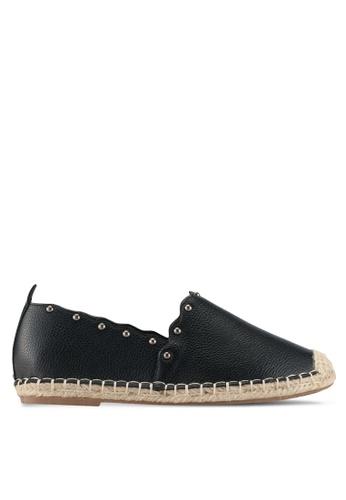 Something Borrowed black Studded espadrilles 63D1ASHE92F771GS_1
