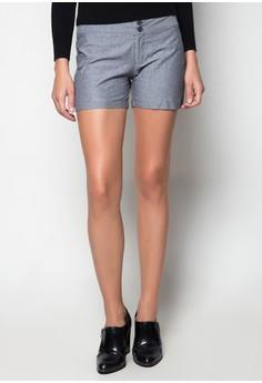 Denim Zipper Shorts