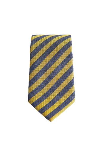 Mango Man yellow Striped Silk Tie 6A164AC3C687A9GS_1