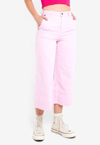 TOPSHOP 粉紅色 時尚牛仔寬褲 7D923AA0006823GS_1