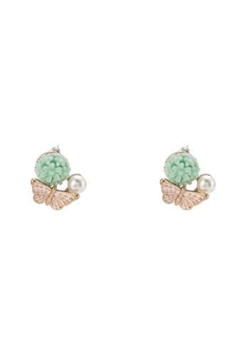 珍珠esprit門市地址蝴蝶設計耳環, 飾品配件, 耳釘