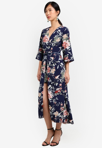 ZALORA navy Double Layer Maxi Romper 2A511AA65BF039GS_1