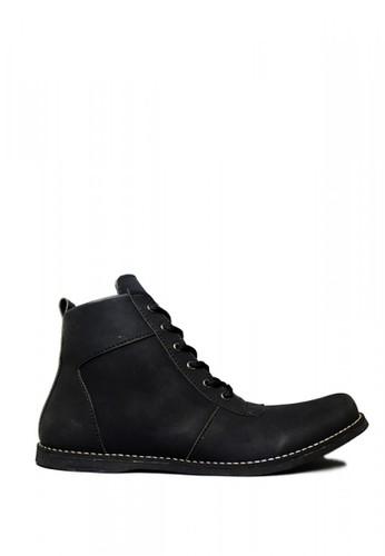D-Island black D-Island Shoes Zipper Ventura Comfort Leather Black 52055SH14E671AGS_1