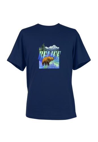 BSX blue BSX Unisex's regular fit printed logo tee (Online exclusive) - (Batik art) (0409029832) 570C0AACDFC367GS_1