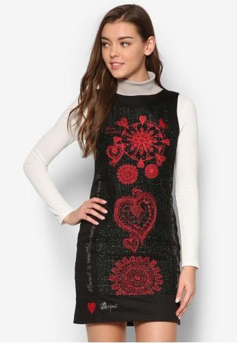 Scarletesprit tsim sha tsuit 刺繡直筒無袖連身裙, 服飾, 服飾