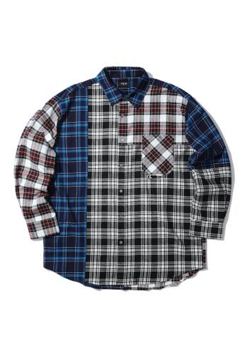 Fivecm multi Panel shirt 034E1AA6618F83GS_1