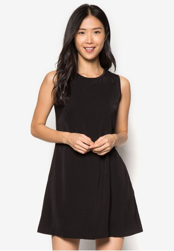Collection 素色無袖連身裙, 服飾, 正zalora 包包 ptt式洋裝