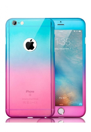 61e91f94845 Shop Nadjames Rainbow 360 Full protection cover Case For Apple iPhone 6  Plus 5.5 Online on ZALORA Philippines