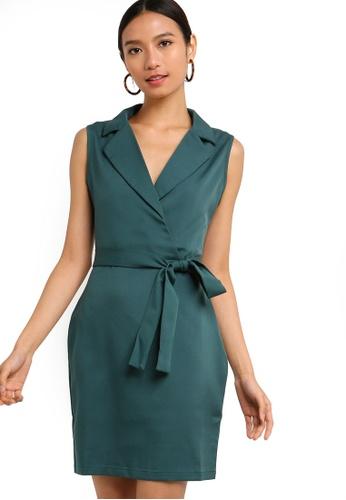 ZALORA green Formal Lapel Dress 32C09AAF91020DGS_1