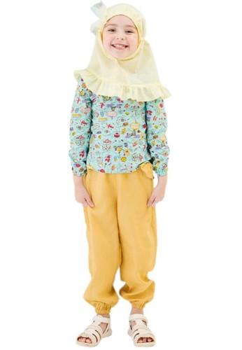Al-Qolam Hafiz Hafizah Fashion - Alya Eiffel Green Baju Anak AA4C9KA9780A03GS_1