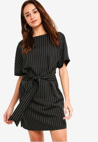 ZALORA black Kimono Belted Shift Dress 2F4E7AAC07DCF8GS_1