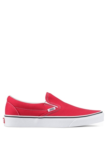 VANS red Classic Slip-On VA142SH0SWN1MY_1