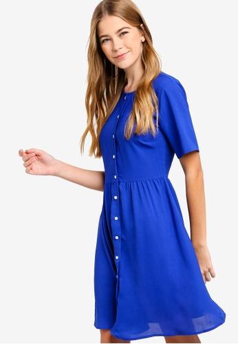 Something Borrowed blue Button Down Dress CD696AA5CB572CGS_1