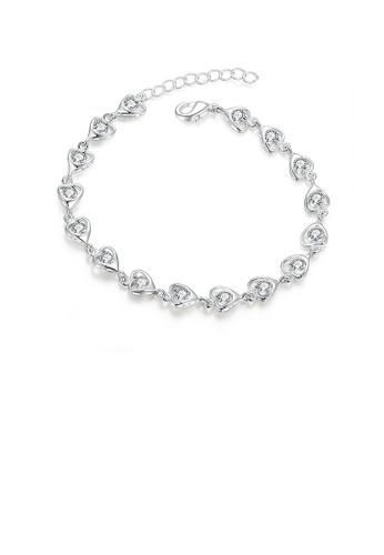 Glamorousky white Sweet Heart Bracelet with Cubic Zircon C0711ACF749DF2GS_1