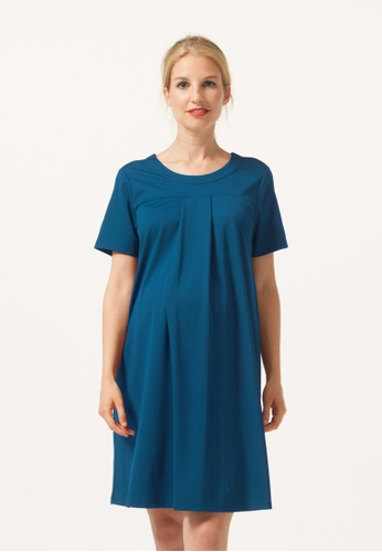 Bove by Spring Maternity blue Florence Dress Soft Navy F86EAAA3F40AFDGS_1