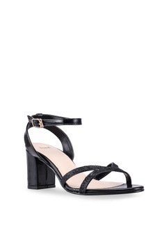 50d3d8b81c0 DMK Ankle Strap Glitter Heel Sandals S  39.90. Sizes 35 36 41