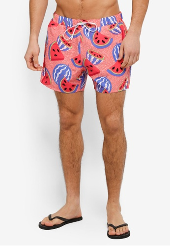 Topman pink Pink Melons Swim Shorts TO413AA0T1IUMY_1