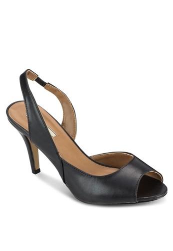 尖頭露趾繞踝esprit高雄門市高跟涼鞋, 女鞋, 鞋