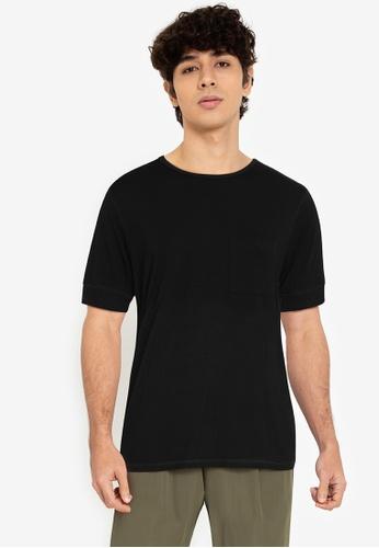 ZALORA BASICS black Expose Stitch T-Shirt 76FF7AA43CF28DGS_1