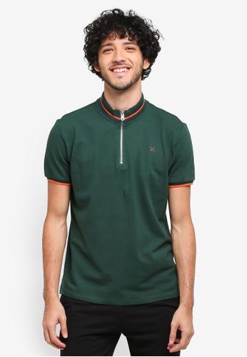 JAXON green Mock Neck Polo Shirt F9175AA022B5C9GS_1
