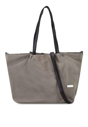 NUVEAU brown Premium Oxford Nylon Tote Bag Set of 2 2A8A1ACAD81673GS_1