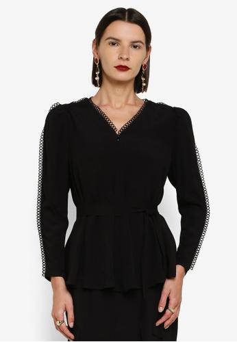 Zalia 黑色 Puff Sleeves Top 4AB59AA1B84B81GS_1