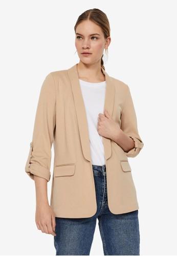 Vero Moda beige Open Blazer 7A9F1AAD431CD2GS_1