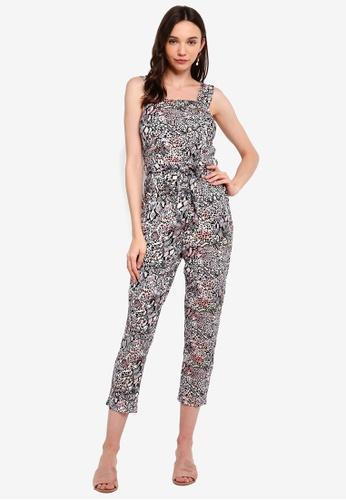 1bf2ae3d0dcf Buy Dorothy Perkins Petite Leopard Tie Jumpsuit   ZALORA HK