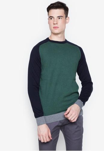 Springfield green Contrast Pullover 8E61BAA1344470GS_1