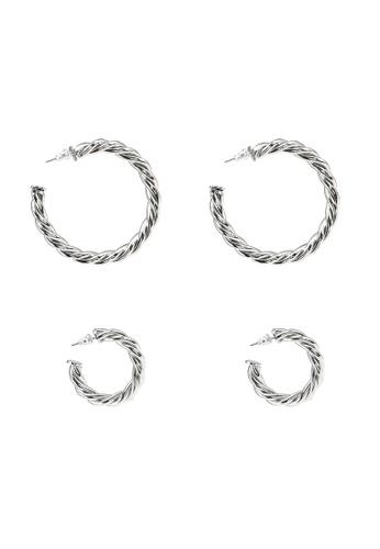 ALDO silver Aderima Pieced Earrings F1216AC4C5C462GS_1