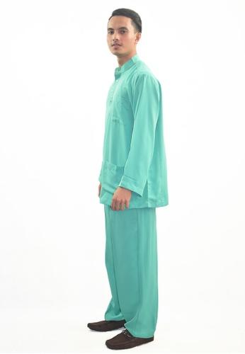 Denai Boutique green Baju Melayu Atta F9B06AAC77756CGS_1
