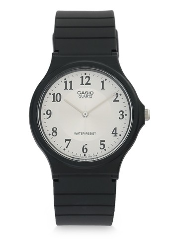 Casio black Casio Jam Tangan - Black White - Resin - MQ-24-7B3LDF 31ABCAC4E06029GS_1