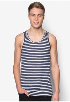 Striped Melange Tank Top