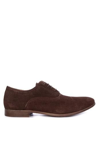Burton Menswear London brown Coleman Oxford Taupe Formal Shoes EAA2BSHE7B3E2FGS_1