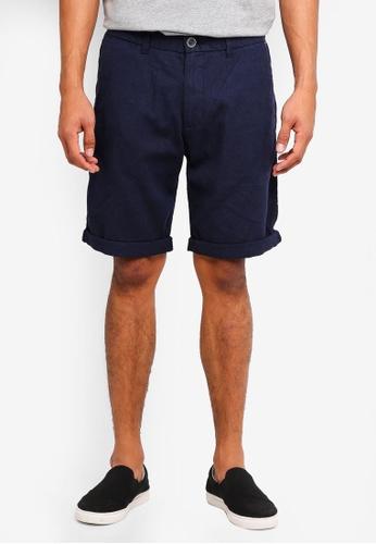 ESPRIT 海軍藍色 休閒短褲 D3928AACC443D8GS_1