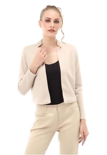 Hamlin n/a Qemsya Outer Blazer Formal Premium Wanita Lengan Panjang Material Cotton ORIGINAL - Cream 7D808AA6B13585GS_1