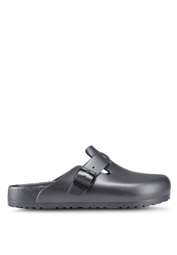 Birkenstock grey Boston EVA Sandals 39439SH818371CGS_1