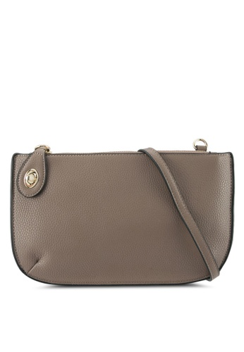 Perllini&Mel brown Faux Leather Sling Bag PE444AC0SBKCMY_1